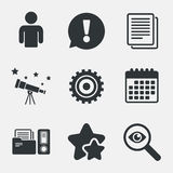 Accounting workflow icons. Human documents. royalty free illustration