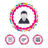 Accounting workflow icons. Human documents. Royalty Free Stock Images