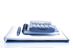 Accounts. Concept with financial calculator and pen stock photography