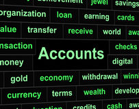 Accounts Accounting Means Balancing The Books And Accountant Stock Images