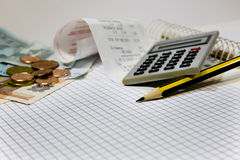 Accounts and financial costs Stock Image