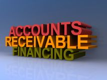 "Accounts receivable financing. An illustration of the words ""accounts receivable financing"" with 3D text Stock Photo"