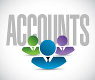 Accounts team sign illustration design graphic Royalty Free Stock Photo