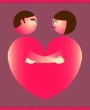 Accouple le coeur Image libre de droits
