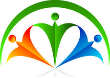 Accouple le logo Image libre de droits