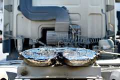 Accouplement de camion de cinquième roue graissé Images libres de droits
