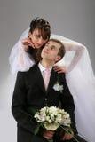 Accouplez la verticale de mariage photos libres de droits