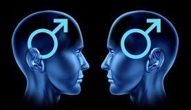 Accouplez le symbo homosexuel homosexuel de mâle d'hommes d'émissions sexuelles illustration libre de droits