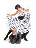 Accouplez le type de Latina de danseurs Image libre de droits