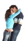 Accouplez les baisers Photos stock
