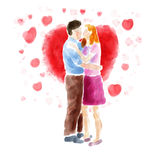 Accouplez les baisers Images stock