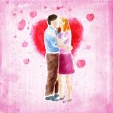 Accouplez les baisers Photos libres de droits