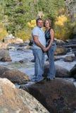 Accouplez sur le fleuve 2 Images libres de droits