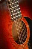 Accoustic吉他12串 库存图片