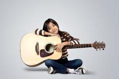 Accoustic Gitarre Stockfoto