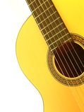 Accoustic klassische Gitarre Lizenzfreie Stockbilder