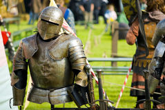 Accouterments of knighthood. A shot of a knights armor Royalty Free Stock Image