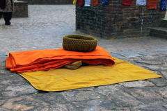Accouterments of a Tibetan monk Royalty Free Stock Photography