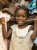 Happy girl in ghana Royalty Free Stock Photography