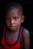 ACCRA, GHANA � MARCH 18: Unidentified African boy pose and look Stock Photography