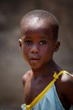 ACCRA, GHANA � MARCH 18: Unidentified African girl  pose and loo Royalty Free Stock Photo