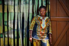 ACCRA, GHANA � MARCH 18: Unidentified African woman pose and loo Stock Images
