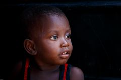 ACCRA, GHANA � MARCH 18: Unidentified young african boy with bri Stock Image