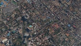 Earth Zoom In Zoom Out Accra Ghana stock footage