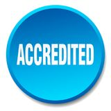 Accredited button. Accredited round button isolated on white background. accredited vector illustration