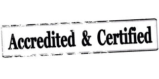 Accredited and certified. Rubber stamp with text accredited and certified inside,  illustration Stock Image