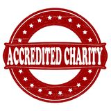 Accredited charity. Stamp with text accredited charity inside,  illustration Royalty Free Stock Photos