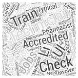 Accredited Checking Technician Jobs Provide A Good Vocational Career word cloud concept  background. Text Royalty Free Stock Images