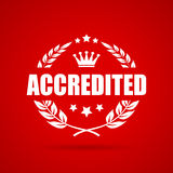 Accredited laurel vector icon. Accredited award laurel vector icon Royalty Free Stock Photo
