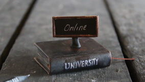 Accredited online universities idea stock footage