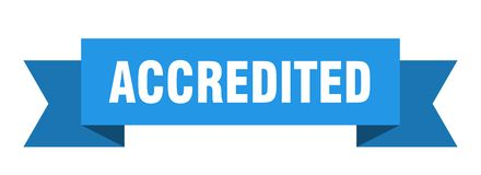 Accredited ribbon. Accredited banner. sign. accredited stock illustration