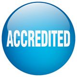 Accredited button. Accredited round button isolated on white background. accredited stock illustration