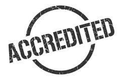 Accredited stamp. Accredited round grunge stamp. accredited sign. accredited vector illustration