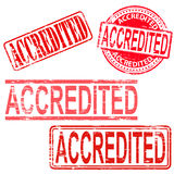Accredited Rubber Stamps Royalty Free Stock Photos
