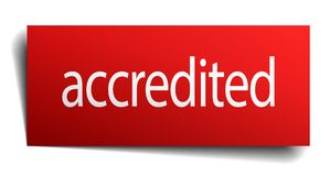 Accredited sign. Accredited square paper sign isolated on white background. accredited button. accredited stock illustration