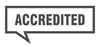Accredited speech bubble. Accredited isolated sign.  accredited vector illustration
