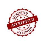 Accredited stamp illustration. Accredited red stamp seal stamp illustration Stock Photography