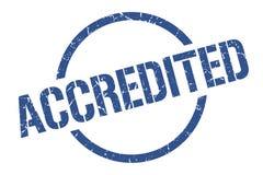 Accredited stamp. Accredited round grunge stamp. accredited sign. accredited royalty free illustration