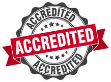 Accredited stamp. sign. seal. Accredited red stamp. sign. seal Stock Photos