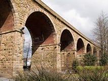 Accrington-Eisenbahnviadukt Stockbilder