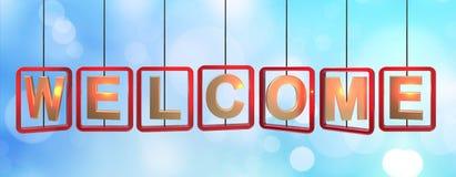 Accrocher bienvenu de lettres illustration de vecteur