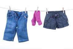 Accrocher de marchandises de bébé photo libre de droits