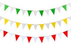 Accrocher de papiers de triangle sur la corde Image stock