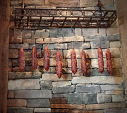 Accrocher de saucisses Images stock