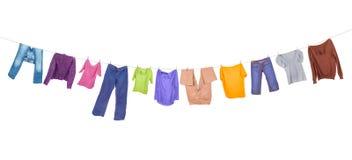 Accrocher de vêtements photographie stock