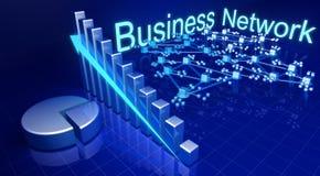 Accroissement d'affaires et concept financiers de réseau illustration de vecteur